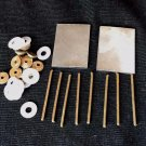 Razor Making Supply Hardware 2 Steel Wedges 12 Brass Collars 8 Pins 12 Washers