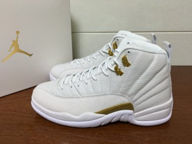 best authentic 56adc 7d659 Nike Air Jordan 12 OVO 'White & Metallic Gold' shoes