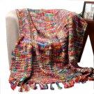 """Battilo Tropical Style Multi-color Rainbow Throw Blanket 63"""" X 49"""""""