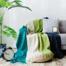 "Battilo Simple Four-color Stitching Cashmere Carpet Sofa/Couch Throw Blanket, 94"" X 55"""