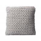 "Battilo (grey)Roving Handmade Knit Cushion Throw Pillow For Home Decor Sofa Chair Bed 20"" x 20"""