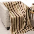 Battilo Casual Strip Comfortable Throw Blanket