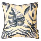 Battilo Single-sided Floral Printed Stuffed Throw Zipper Accent Pillow Cushion