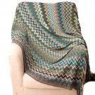 """Battilo Multi-Colored Chevron Pattern Decorative Throw Blanket 60"""" x 50"""""""