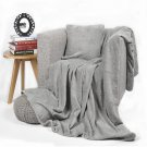 """Battilo【Grey】Stars Printed Flannel Blanket Air-conditioned Lively Office Nap Cover 59"""" x 79"""""""
