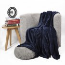 "Battilo【Navy】Stars Printed Flannel Blanket Air-conditioned Lively Office Nap Cover 59"" x 79"""