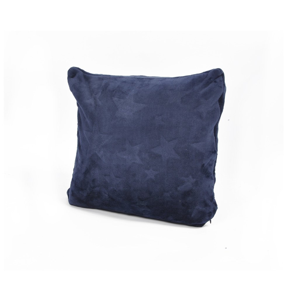 """Battilo (Navy)Stars Printed Throw Pillow Cushion for Couch Bed Sofa,16"""" X 16"""""""