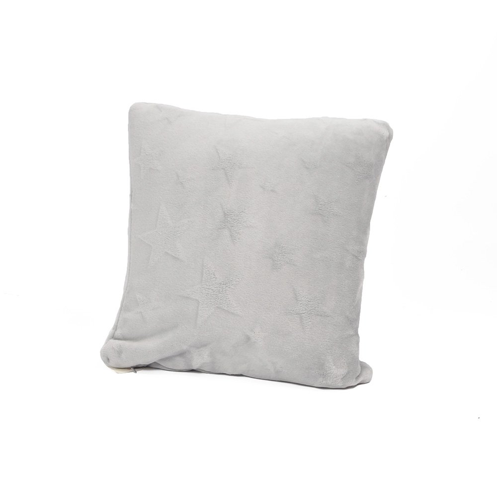 """Battilo (Grey)Stars Printed Throw Pillow Cushion for Couch Bed Sofa,16"""" X 16"""""""