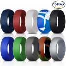 Silicone Wedding Ring for Men [Size 10]10 Pack Rubber Rings Fit for Sports and Outdoors