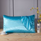 "Battilo (Aqua)Satin Silk Pillowcase for Hair & Facial Skin to Prevent Wrinkles 20""x30"""