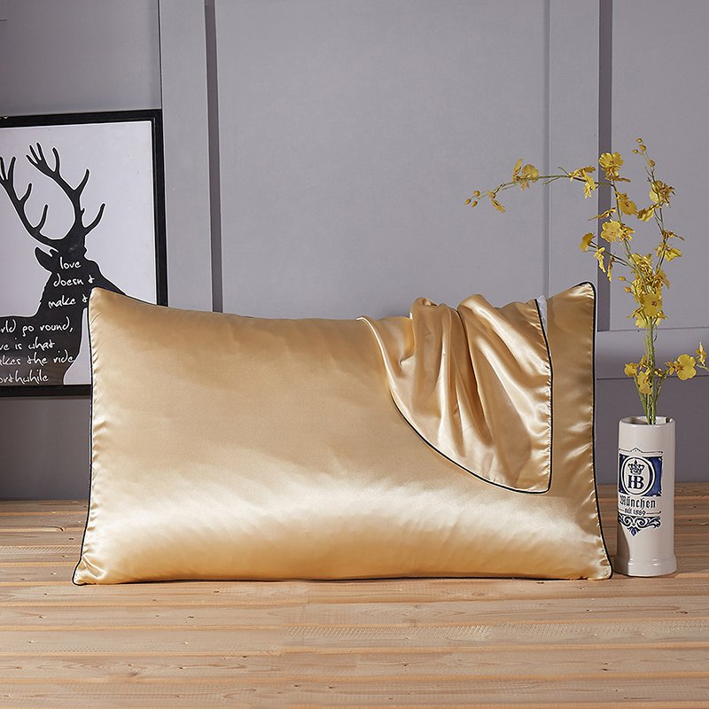 Battilo Light Tan Satin Silk Pillowcase For Hair Amp Facial