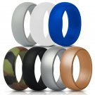 Battilo Silicone [size 8]Wedding Ring for Men/Women 7 Pack Comfortable Antibacterial Rubber Rings