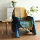 "Battilo (88"" x 100"") Decorative Woven Tapestry Throw Blanket with Fringes Knitted Chenille Blanket"