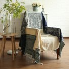 "Battilo (60"" x 76"") Decorative Woven Tapestry Throw Blanket with Fringes Knitted Chenille Blanket"