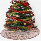 """Battilo 47"""" Christmas Tree Skirt Short Plush Tree Skirts Base Floor Mat Cover"""