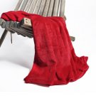 Battilo [Red] Flannel Fleece Blanket Throw 200 GSM Plush Microfibe