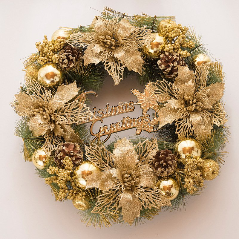 Battilo Artificial Christmas Wreath Door Hanging Wall Window Wedding Party Christmas Decor 12""