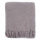 Battilo(Grey)100% acrylic Blanket with Tassels Throws for Sofa Chair Settee 130x150cm
