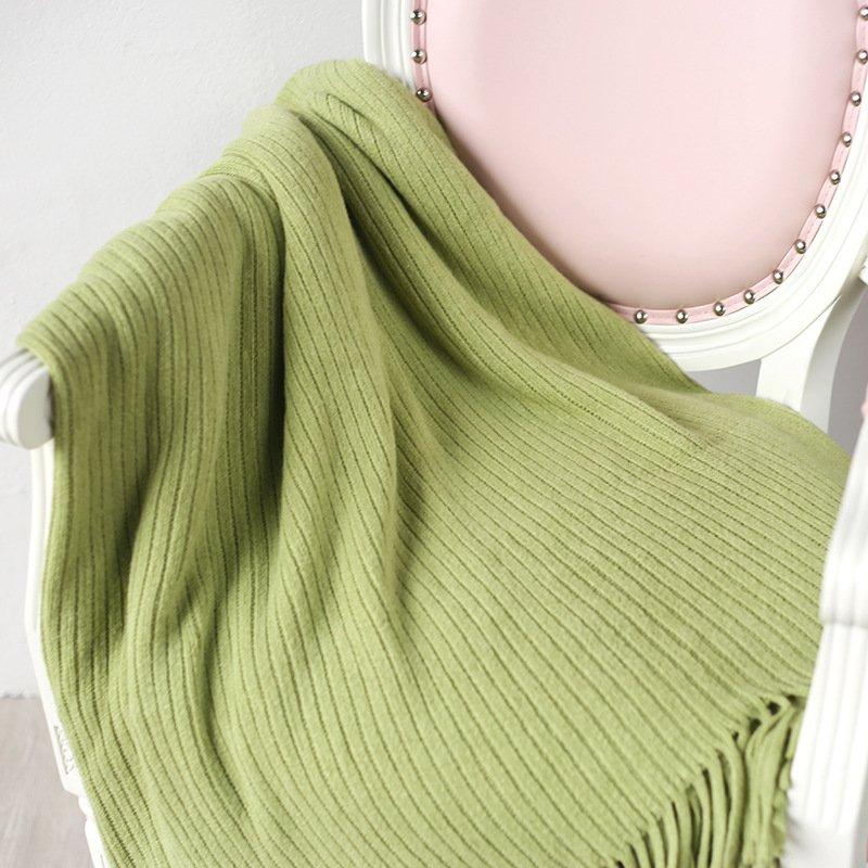 "Battilo[Light Green 50""x80""]Soft Throw Blanket Warm & Cozy for Couch Sofa Bed Beach Travel"