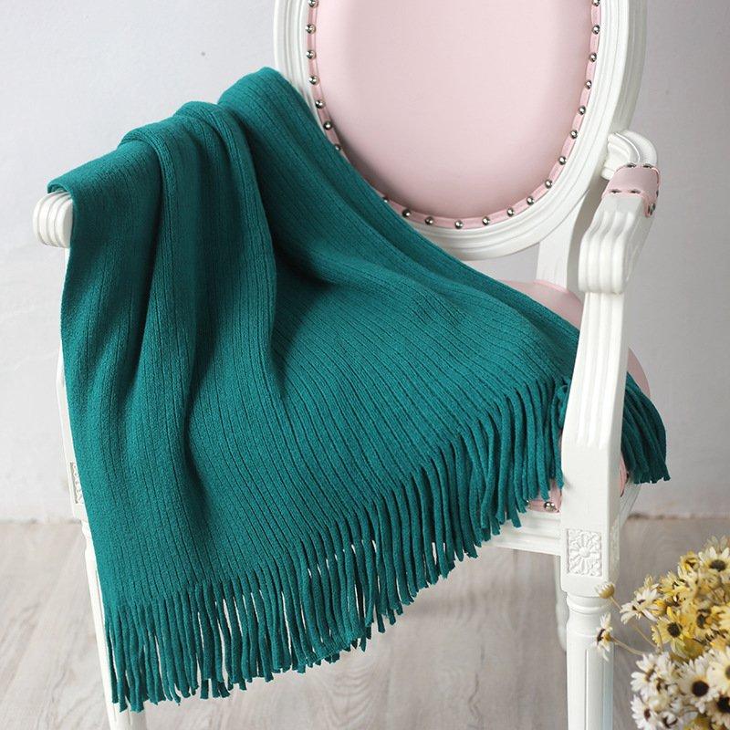"""Battilo[Aqua 50""""x80""""]Soft Throw Blanket Warm & Cozy for Couch Sofa Bed Beach Travel"""