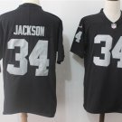 Men's Oakland Raiders #34 Bo Jackson Black football Limited jersey