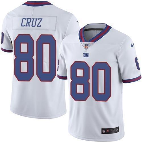 df7516116 Men s New York Giants  80 Victor Cruz color rush Football Jersey