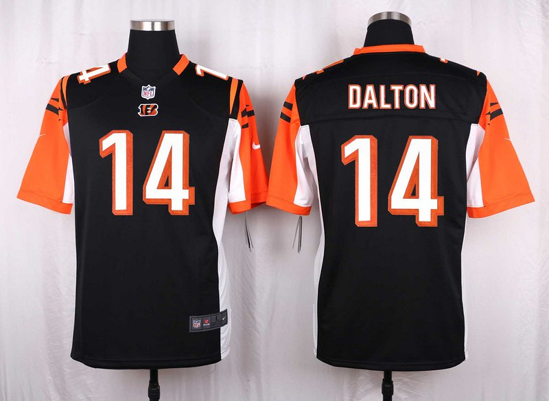 Mens  Cincinnati Bengals #14 Andy Dalton mens game Football jersey black