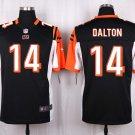 Mens  Cincinnati Bengals #14 Andy Dalton mens game Football jersey black