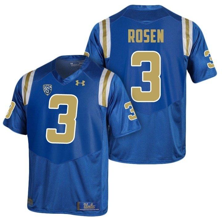 newest 42e58 9acad Josh College 3 Bruins Men's Football Jersey Rosen Ucla Blue ...