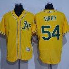 MENS  Oakland Athletics 54 Sonny Gray Yellow Flexbase Baseball Jersey