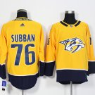 Mens Nashville Predators 76 P.K. Subban Yellow Stitched Ice Hockey Jersey