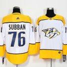 Mens Nashville Predators 76 P.K. Subban White Stitched Ice Hockey Jersey