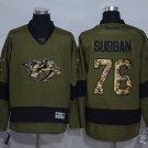 Men's Nashville Predators 76 P.K Subban Army Green Ice Hockey Jersey
