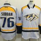 Men's Nashville Predators 76 P.K Subban White Ice Hockey Jersey