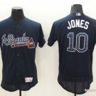 MENS     Atlanta Braves 10 Chipper Jones Navy Blue Flexbase Baseball Jersey