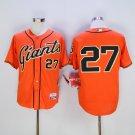 MENS  San Francisco Giants 27 Juan Marichal Orange Cool Base Baseball Jersey