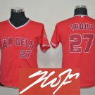 Youth Los Angeles Angels #27 Mike Trout Trout Red Kids Signature Edition Jersey