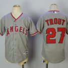 Youth Los Angeles Angels #27 Mike Trout Gray Kids Cool Base Jersey Stitched