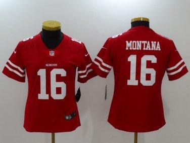 meet 0f55d f6935 Women's Joe Montana Jersey #16 San Francisco 49ers Football ...