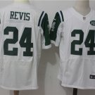 Men's  New York Jets #24 Darrelle Revis elite Stitched Football jersey white