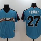 Mens   All star Los Angeles Angeles 27 Mike Trout Baseball Jersey Blue