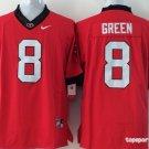 Men's Georgia Bulldogs 8 AJ Green white college Stitched football jersey