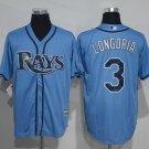 MENS   Tampa Bay Rays 3 Evan Longoria Blue Cool Base Baseball Jersey