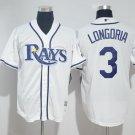 MENS Tampa Bay Rays 3 Evan Longoria White Cool Base Baseball Jersey