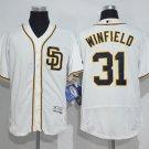 Men's  San Diego Padres 31 Dave Winfield White Flexbase Baseball Jersey
