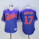 Men's Chicago Cubs 17 Kris Bryant Blue 1994 Turn Back The Clock Cool Base Jersey