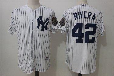 brand new cf702 9f436 Men's New York Yankees 42 Mariano Rivera Baseball Jersey ...
