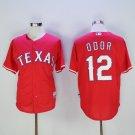 Men's Texas Rangers 12 Rougned Odor Red Cool Base Baseball Jersey