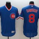 Men's  Chicago Cubs 8 Andre Dawson Blue Flexbase Pullover Baseball Jersey