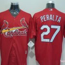 Men's  St. Louis Cardinals 27 Jhonny Peralta Red Cool Base Baseball Jersey